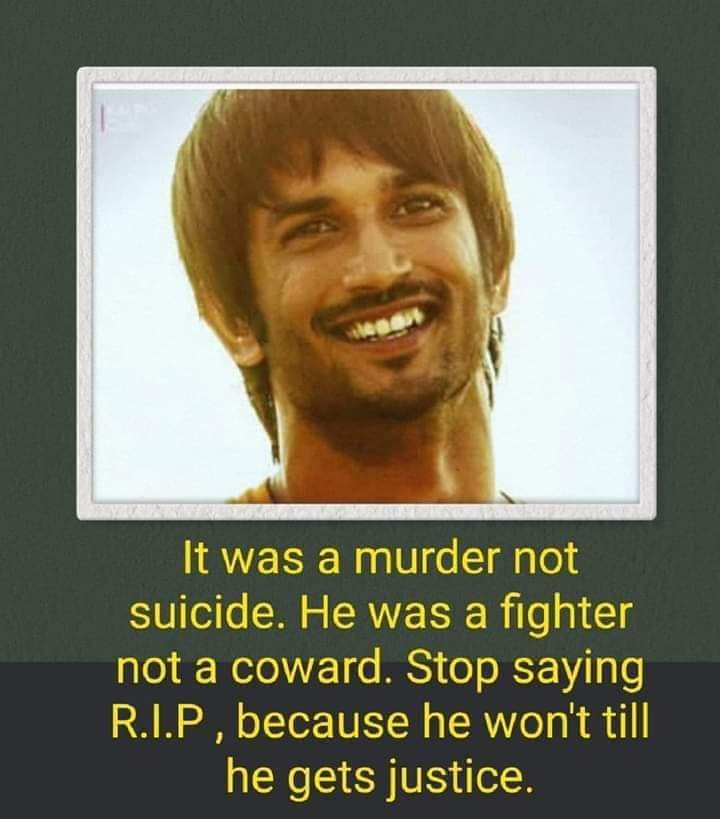 #justiceforSushanthSinghRajput  Keep trending guys, do not give up... Not yet, not till the culprits are behind the bars  pic.twitter.com/MK0WbwUNCj  by Isha Shah Mehta