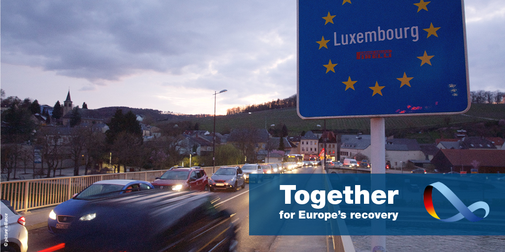 A Europe without borders: Europe thrives on freedom of movement. Germany is working with its partners to re-open the Schengen area in a controlled and coordinated manner. #EuropeUnited https://t.co/PddsARDF9J