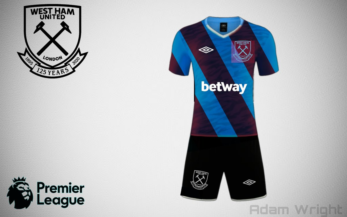 West Ham Away Kit 2020/21 concept!👀💯 What are your thoughts? #COYI #irons #⚒ #kitconcept https://t.co/EC19ZXTygD