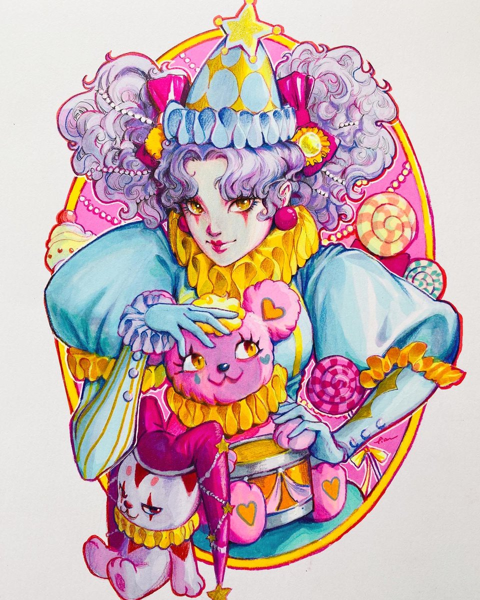 """""""Party time"""" A marker +pencil piece"""