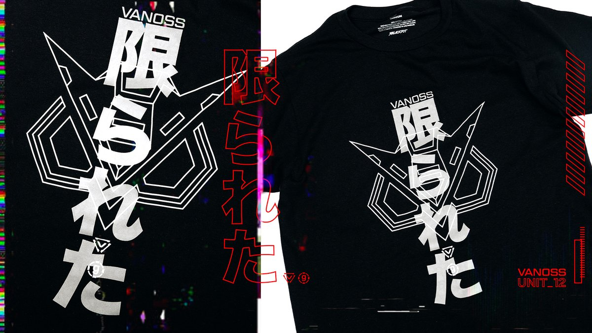 vanoss katakana collection available now. vanoss.3blackdot.com