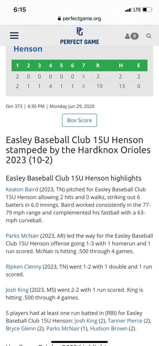 Thanks for the invite @henson_jd enjoyed it for sure. Go win it! @EasleyBaseballC @CvilleBaseball_ @PerfectGameUSA https://t.co/UiSYXHiCzk