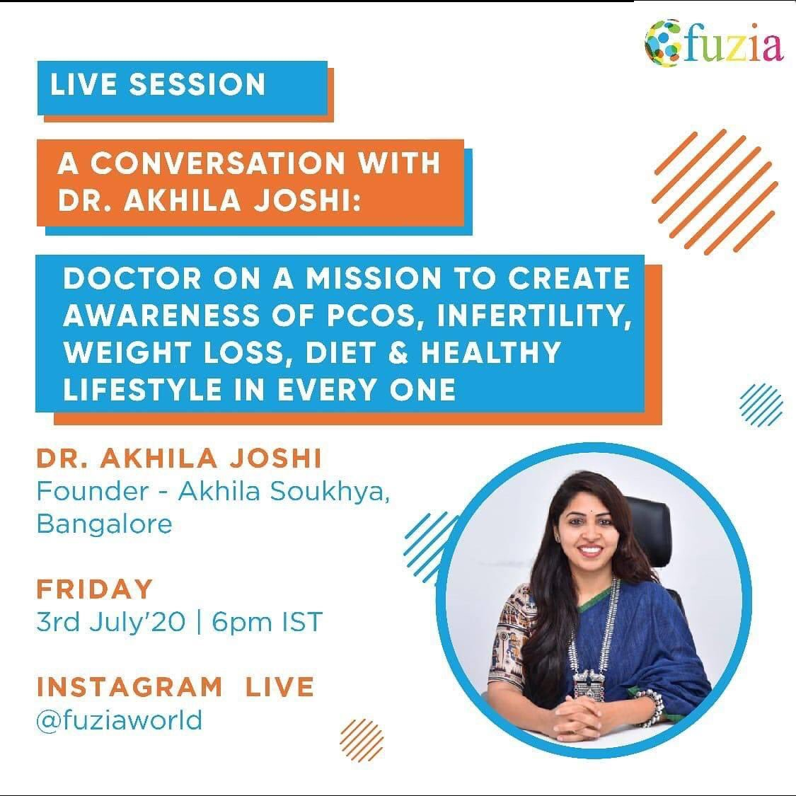 Fuzia On Twitter Fuzia Is Organising A Live Session With Dr Akhila Joshi To Create Awareness On Pcos Infertility Weight Loss Etc For Every One She S Among India S Top 25 And World S