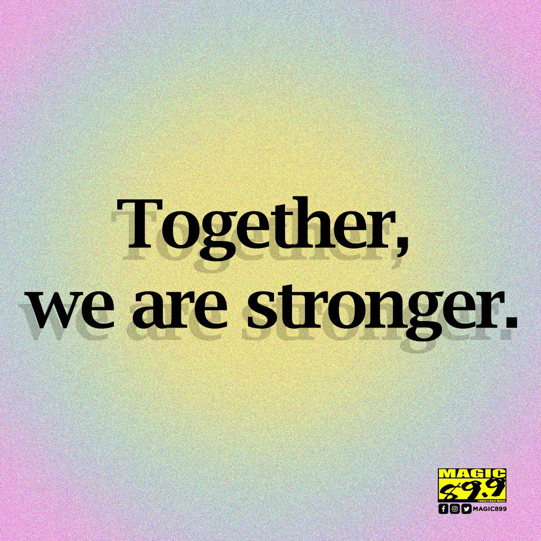 No matter what the world throws at us, together, there's nothing we can't beat. #BeTheMagic
