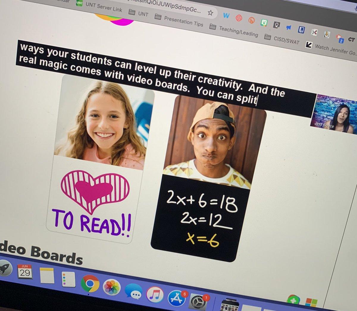 Um video boards anyone?!?! #FlipgridLIVE #FlipgridForAll @cisdSWAT