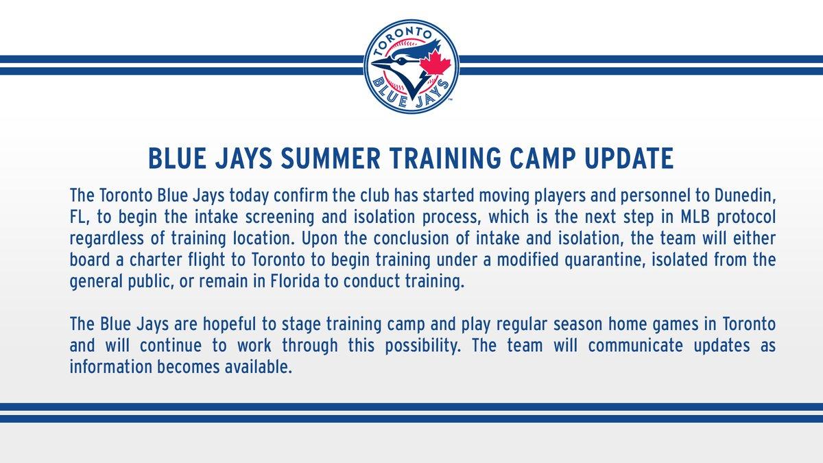 #BlueJays Summer Training Camp Update: https://t.co/ez91hYAZ34