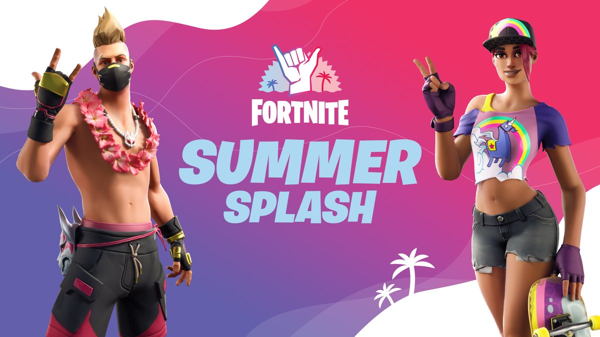 Summer is just getting started with the Fortnite Summer Splash 🌊 Throughout the season dive in for a rotation of refreshed classic LTMs along with some all-new modes. Also, keep an eye on the Item Shop for new and returning summer styles! Read more: fn.gg/summersplash