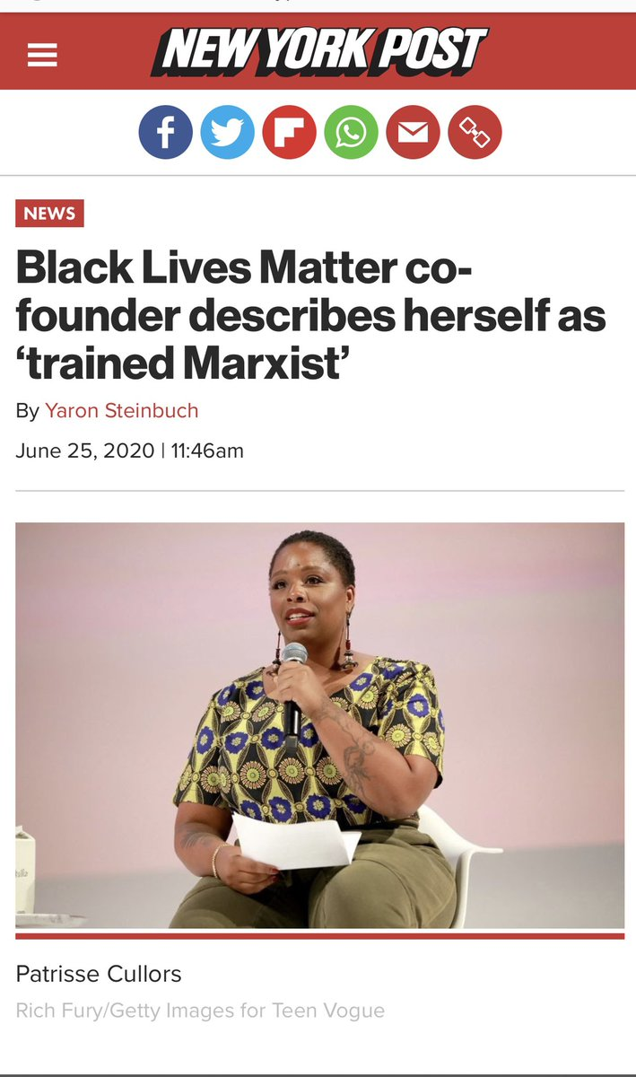 The leaders of the Black Lives Matter movement are trained Marxist.. #BLACK_LIVES_MATTERS #blacklifematters #BlacklivesMaters #BlackOutDay2020 https://t.co/RzRSxW1c4H