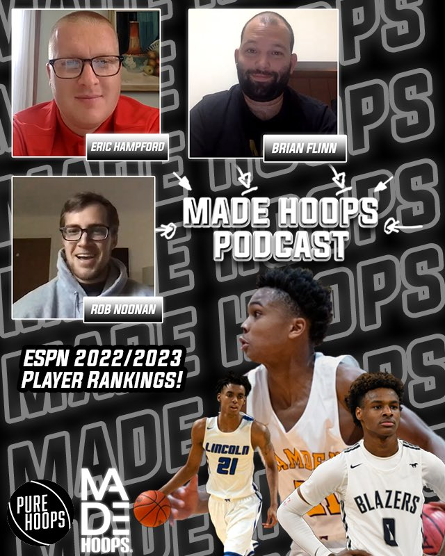 🎙 MADE Hoops Pod is BACK with Ep. 9! 🔥  Eric Hampford, Brian Flinn & Rob Noonan analyze and discuss ESPN's recent national rankings for the 2022 & 2023 classes.  🎥: https://t.co/eShnOmUQtW https://t.co/qzCI9yOr7i