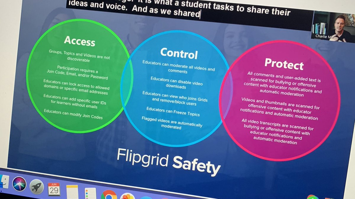 Wow! Thank you @Flipgrid for protecting our students even MORE! #FlipgridLIVE #FlipgridForAll