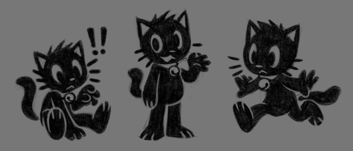 Black cat Black cat Black cat