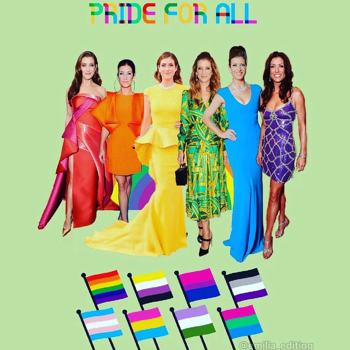 In love with all your amazing #pride edits 😍🏳️🌈 I hope u are celebrating love and diversity this month and every month 💃 Happy Pride Babes 💋🎉 https://t.co/dhVXxQrOpr