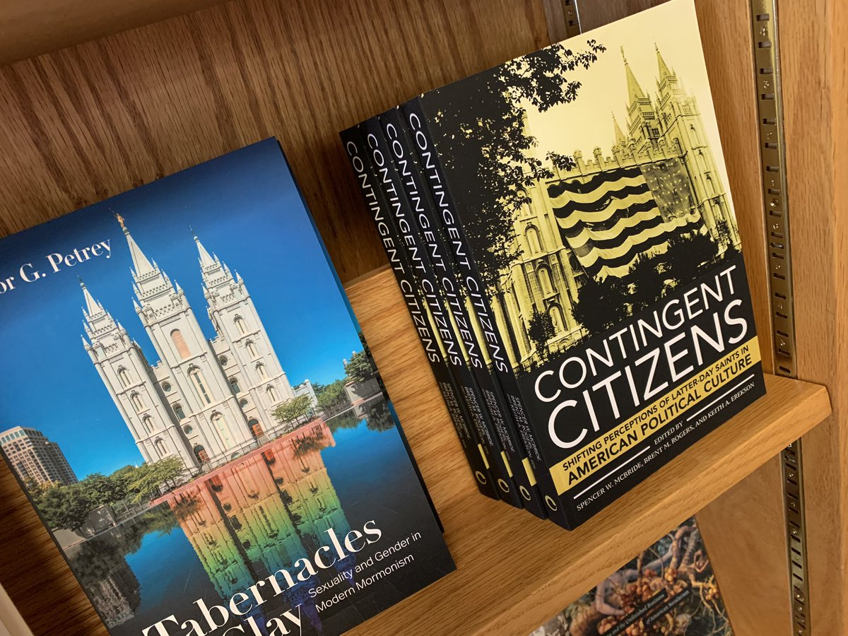 HEY UTAH: if you want a signed copy of CONTINGENT CITIZENS, @brentrogers2121, @KeithAErekson, and I signed a bunch of copies over at @BenchmarkBooks. Get them while you can! https://t.co/pZb97satl4