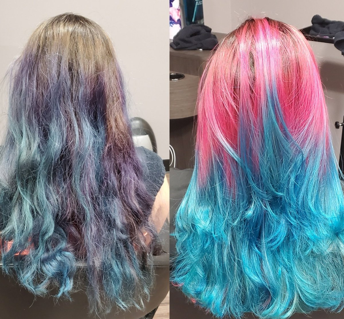 Before & After #haircolor #mermaidhair #MakeoverMondaypic.twitter.com/rMFHVX1nZC
