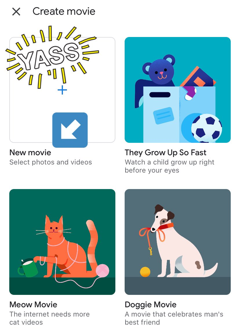 Google Photos now allows you to create movies on mobile!