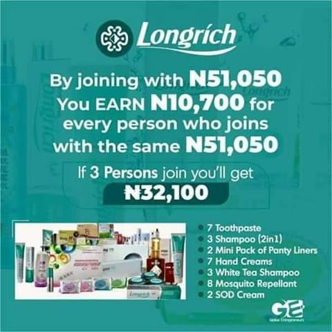 Come on board with LONGRICH today & own your own brand, build your multi-million naira business..... Start earning on a weekly basis. Ask me how #lockdownextension #TikTok #twitch #carryminati #cherepoitrine  #PUBG #59Chinese #DigitalAirStrike #59Chinese #ChineseAppsBlocked<br>http://pic.twitter.com/0ztc8qyckp