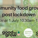 Image for the Tweet beginning: Join our Community Food Growing