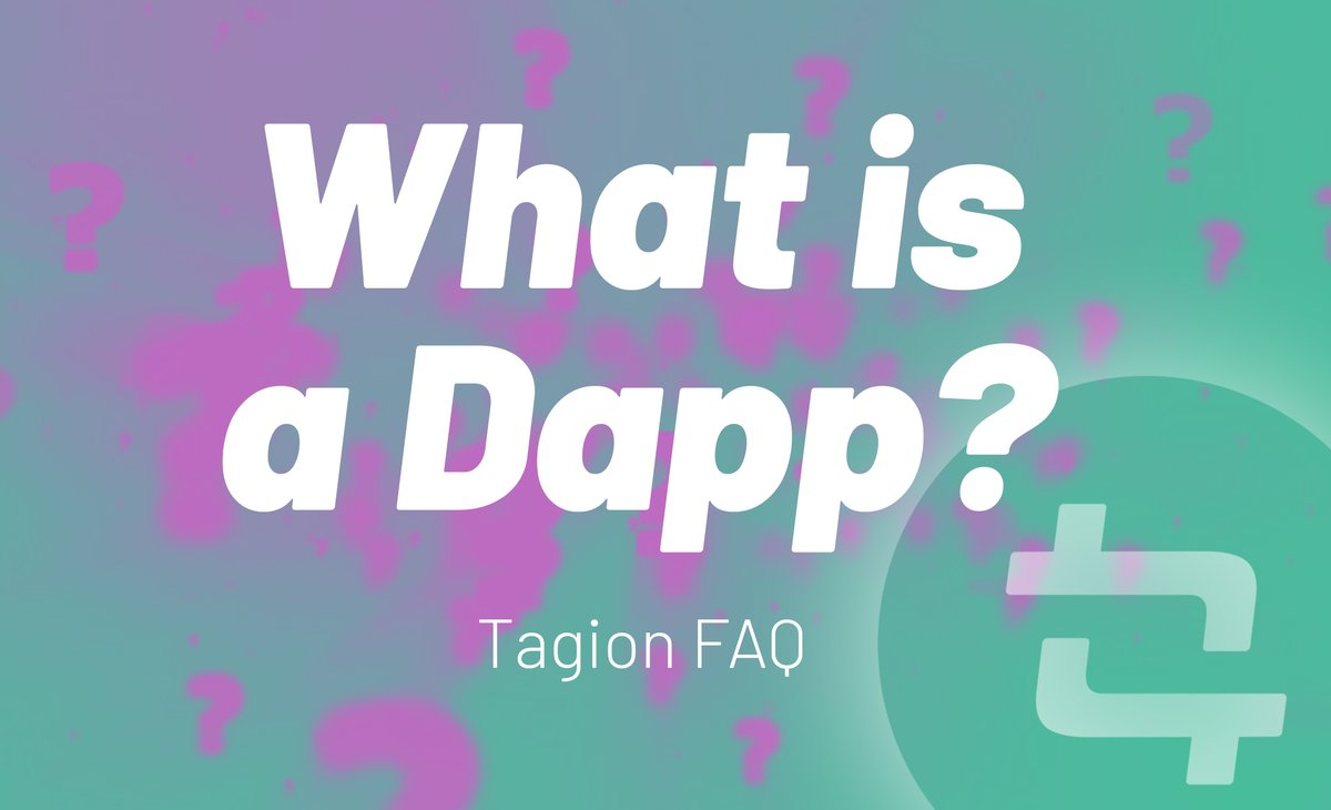 What is a #Dapp? A #decentralized application is a computer application that runs on a distributed computing system. Dapps have been popularized by distributed ledger technologies such as the Ethereum, ...https://t.co/nSpGBBAcW7   #Tagion Telegram Chat: https://t.co/nrAowO4GL8 https://t.co/Bws9fV2H9f