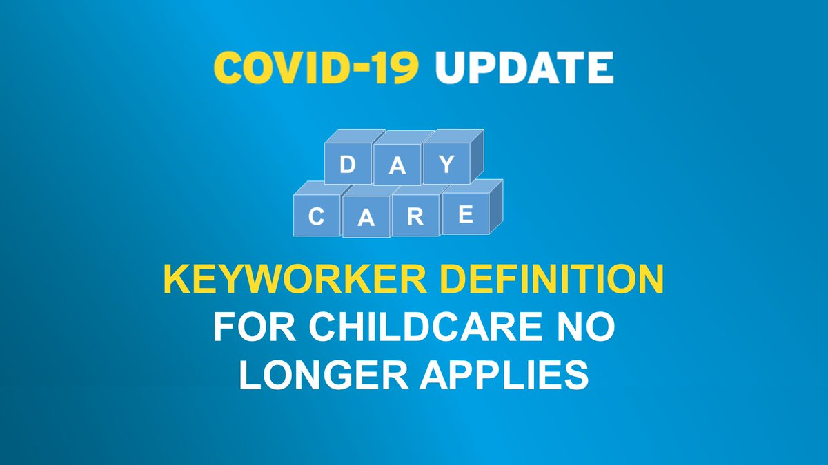 Ministers Robin Swann and Peter Weir have confirmed that the definition of keyworker will no longer apply for access to childcare.  READ MORE: https://t.co/Sa01eyeB23  #COVID19childcareNI   @Education_NI | @niexecutive https://t.co/X98MSRkplN