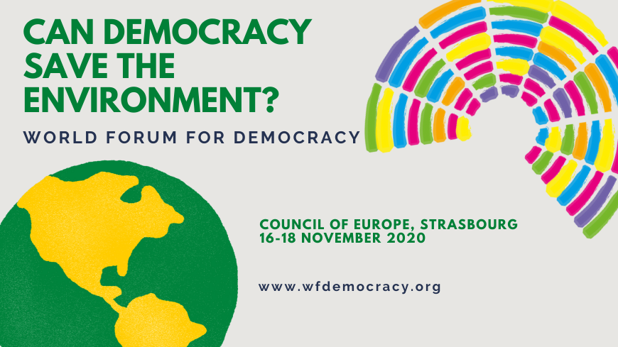 "There is still time to tell us what you are doing for the environment and for democracy - submit your initiative to ""World Forum for Democracy 2020: Call for initiatives"" by 7 July #CoE_WFD #GreenFuture #LivingDemocracy 🌍 https://t.co/5DHcMk2ssW https://t.co/Qjp6FSQIX3"