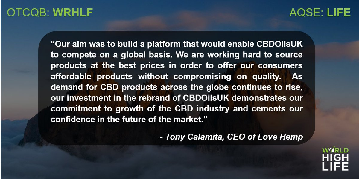 🌱 We are pleased to announce that our brand, @LoveHempuk, has seen a 110% increase in returning customers since its global online retail site, CBDOilsUK, launched its new website 📈 Check it out here 👉  https://t.co/DeLcgUe1tl  #CBD #LoveHemp #LIFE #WRHLF https://t.co/yjQhgMOTrL