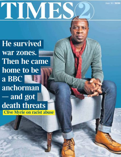 Great cover interview with @CliveMyrieBBC in today's @thetimes2 bit.ly/2Zfvqa8