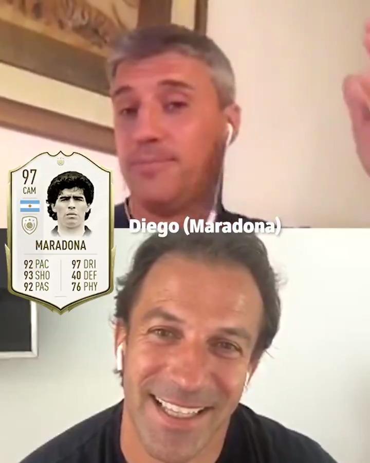 🇦🇷 Maradona 🇧🇷 Pele ❓ @delpieroale asks @Crespo who would make his dream Soccer Aid World XI FC front-line 😍