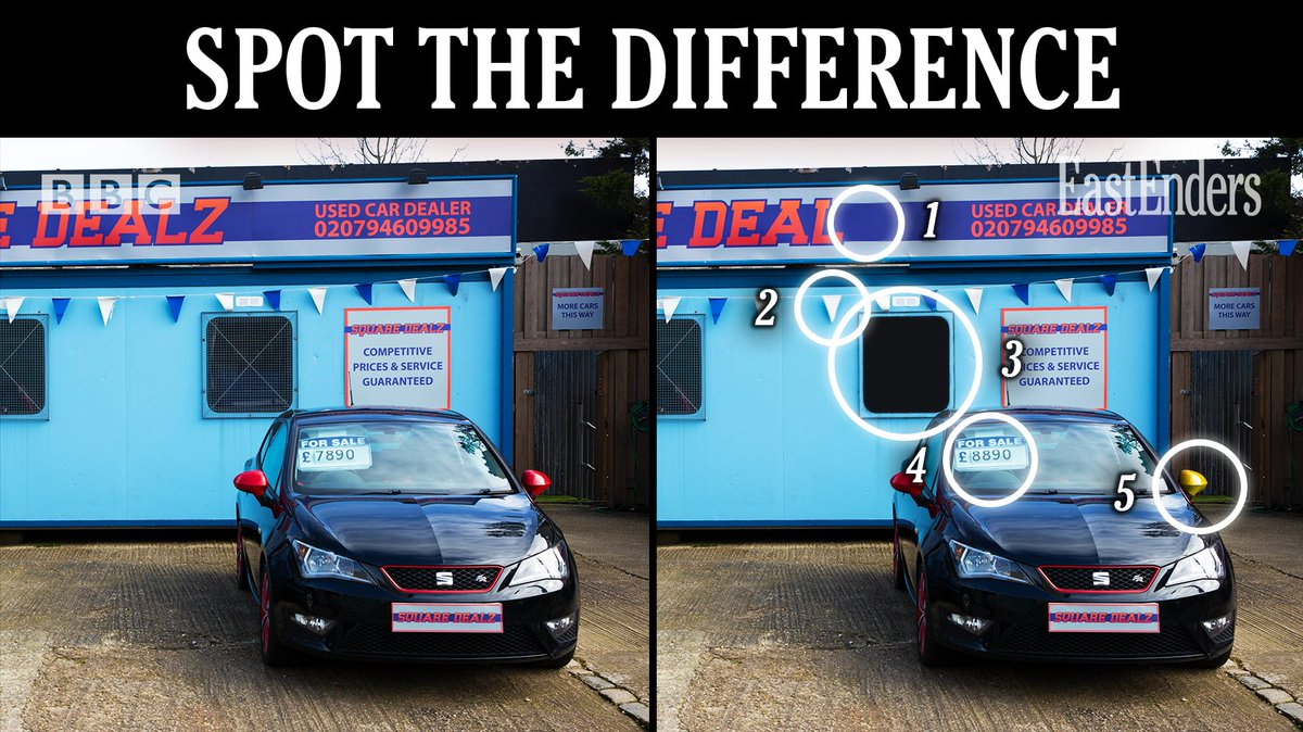 How wheel did you do? Did you spot all the differences? #EastEnders https://t.co/PbPr1gRwPK