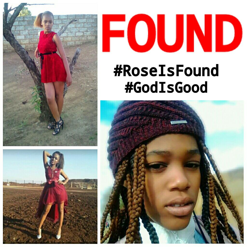 Sorry tweeps ive just been informed that she has been found safe and sound, We thank GOD 🙏🏾