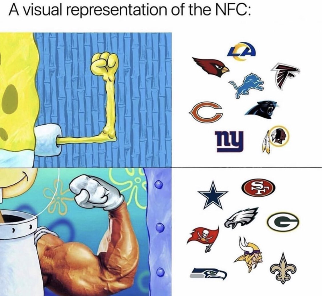 This accurate or nah? 🤣 Move the Niners up to the other section... 🤷🏽♂️ @thesportsontap Go #Seahawks