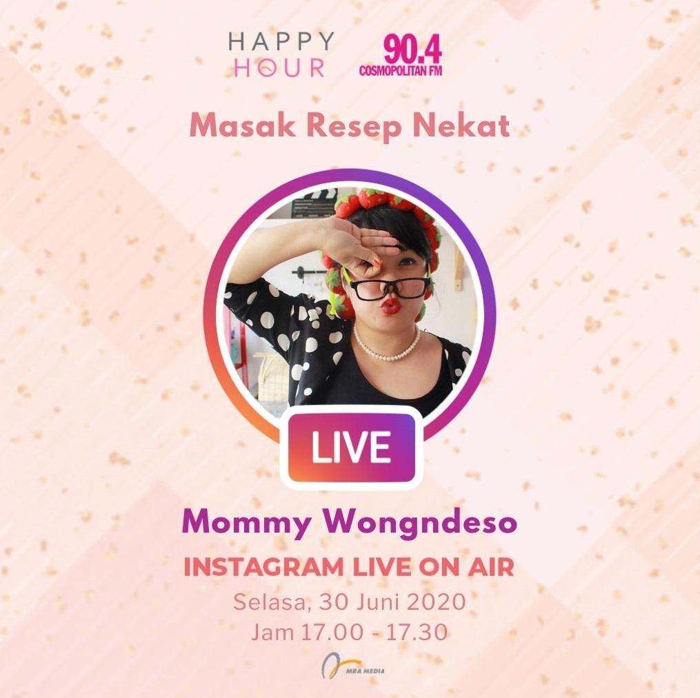 Dengar dan saksikan obrolan @irwanardian dan @jillvandiest di Instagram Live On Air bersama @mommy_wongndeso, di #HappyHour hari ini, yang akan ngobrol seru tentang resep-resep masakan nekat dan unik. #SahabatPerempuan #TetapMRApat #KembaliKeStudio #RadioLawanCovid19 https://t.co/FL9rdE0QC3