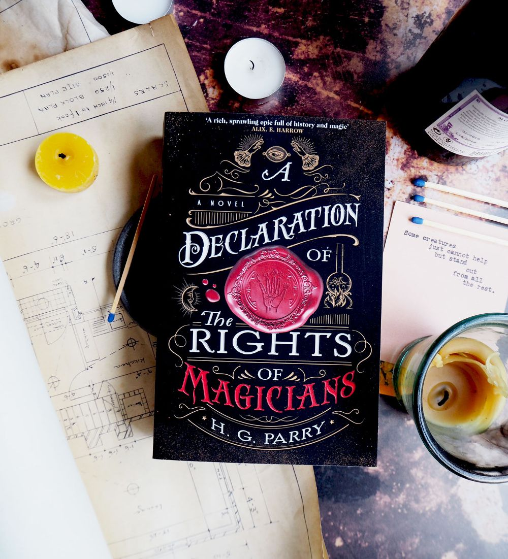 Happy Publication to @hg_parry! A DECLARATION OF THE RIGHTS OF MAGICIANS is a genre-defying story of magic, war, and the struggle for freedom. Copies of this book have been slightly delayed, however they will be in NZ stores very soon! Find out more: https://t.co/Z29Yp0vixP https://t.co/hkUATqCOyZ