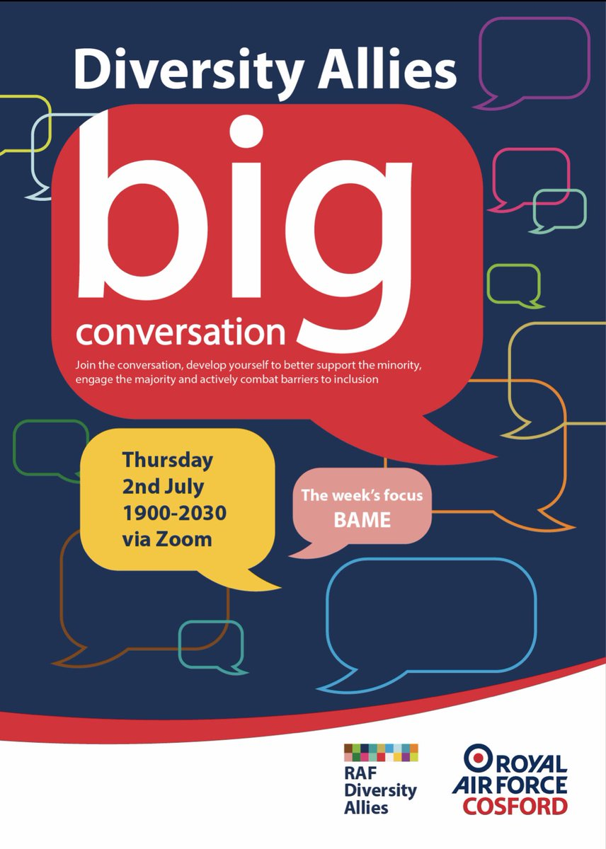 If you think you are too small to make a difference - try sleeping with a mosquito ~ Dalai Lama  RAF Diversity Allies big conversation focus this week is BAME and allyship. Start your journey ❤️  #Involvetoevolve #inclusionmatters ⬇️⬇️⬇️ https://t.co/lRDRcVMMAb
