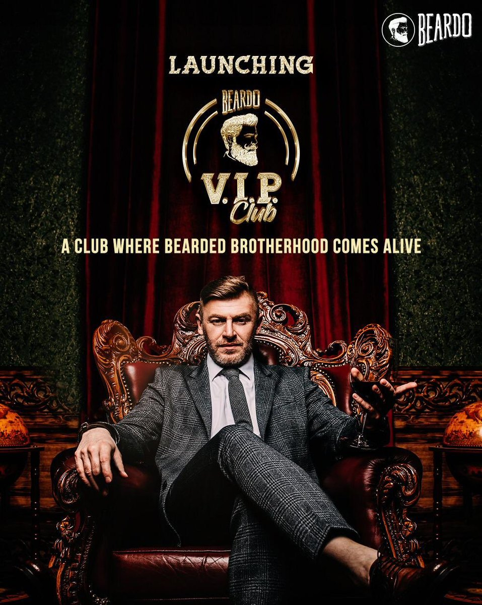 Introducing the BEARDO VIP CLUB - An exclusive destination for select Beardos. ⁣ ⁣Join the CLUB to avail exciting rewards, expert advice, VIP access & much more 🤙🏽 ⁣ Let's come together to grow our mane stronger and clan bigger 🔥 ⁣ ⁣ #AlwaysABeardo #BeBeardo #BeardoVIPClub https://t.co/ByHEZAImcr