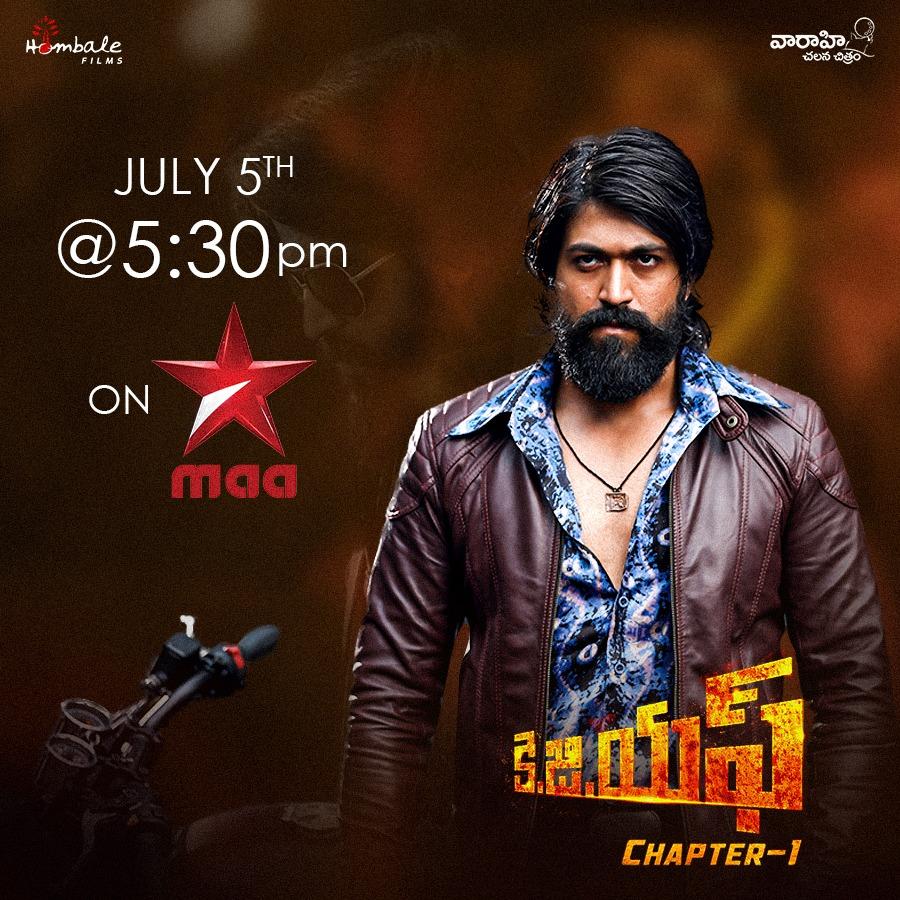 Most Awaited Blockbuster @TheNameIsYash's #KGF Telugu World Television Premiere, This Sunday at 5:30 PM on @StarMaa   @prashanth_neel @VKiragandur @SrinidhiShetty7 @bhuvangowda84 @BasrurRavi  @hombalefilms @VaaraahiCC #KGFChapter1 https://t.co/LHQbQA4fHZ