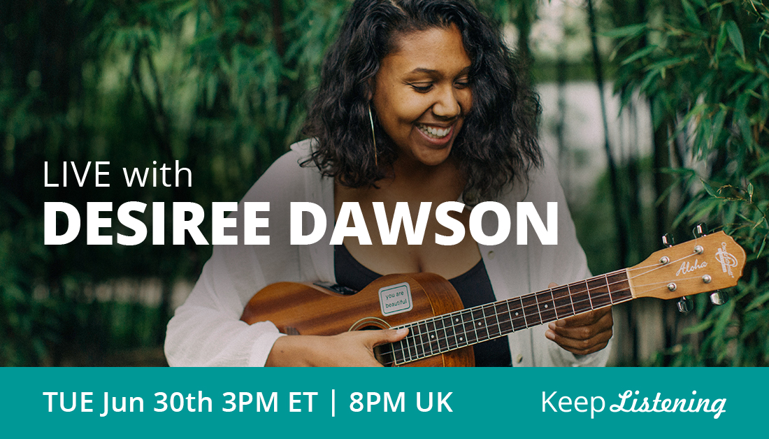. @desireedawsonco makes a point of having every song be honest and emotionally charged. She is passionate about using the power of music to encourage listeners. Catch her for a #keeplistening livestream Tuesday at 3p ET // 8pm UK: https://t.co/5mFc6LyEO5 https://t.co/8AcFOnltz3