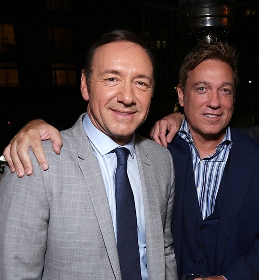 ah, well. unfortunately due to some new tips.... now it is starting to make more sense. that looks an awful lot like the co-owner of The Abbey, kevin huvane, with.... kevin spacey and fuckin harvey weinstien? #LockUpBryanSinger twitter.com/elijahdaniel/s…