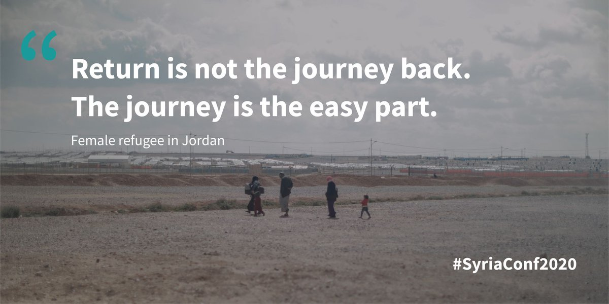 1/2 million IDPs and refugees made the journey back to their areas of origin in #Syria last year. It is important, though, not to conflate the physical movements with the successful realisation of a durable solution. Returns have to be safe, informed, voluntary and sustained https://t.co/Rv9I363AbD