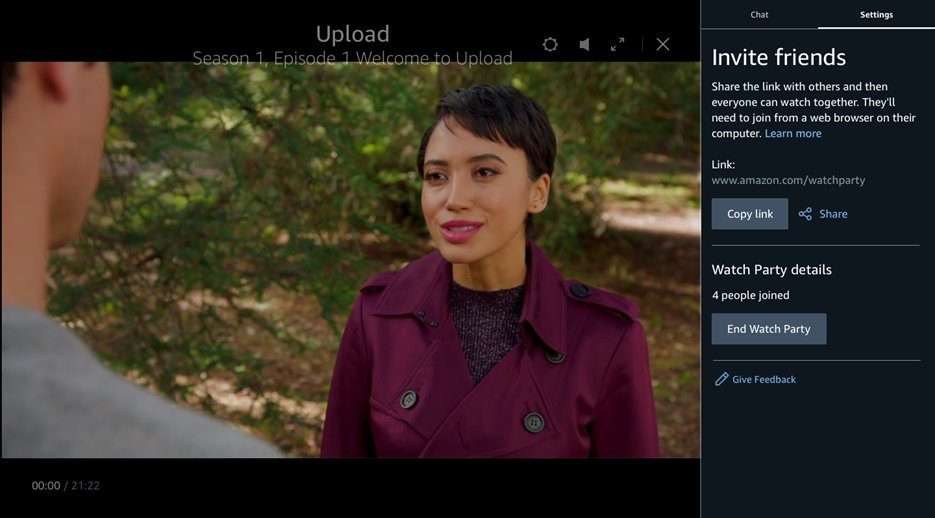 Amazon Prime Video incorpora Watch Party a la plataforma, una nueva funcionalidad que permitirá ver vídeo simultáneamente con hasta 100 usuarios y comentarlo en tiempo real https://t.co/WCNbCjF0O9 vía @TechCrunch https://t.co/M2P6MYBQiH