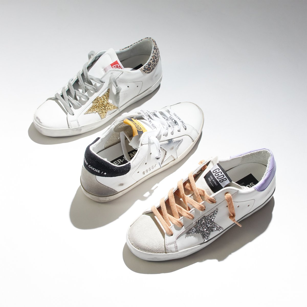 Season after season, #GoldenGooseDeluxeBrand presents the superstar sneakers in brand new designs with bright colours and patterns. #GoldenGoose #GiulioFashion #GiulioOriginal   Take a look at the new season sneakers for women online: https://bit.ly/WomensNewInFootwear…pic.twitter.com/qDDN6Nvf5H