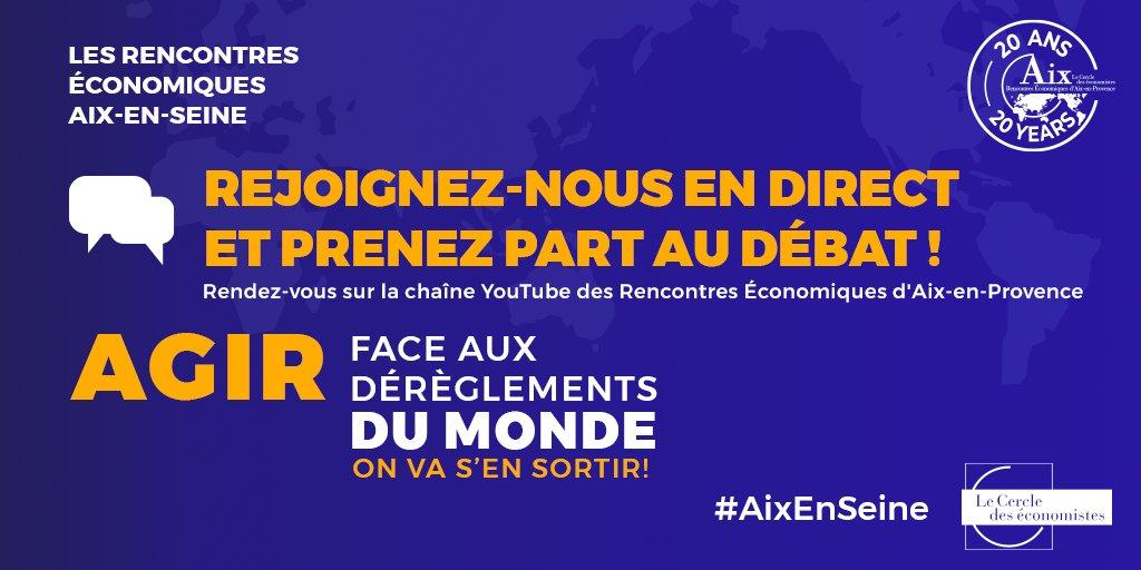 """[Rendez-vous] Le 3 juillet à 15h @JehannoSylvie, PDG de Dalkia, participe à la session """"Affronter les changements climatiques"""" lors des rencontres économiques #AixEnSeine organisées par le @Cercle_eco. Vous pouvez dès maintenant poser vos questions ⬇️ https://t.co/lZAl6DvSqZ https://t.co/eVRIIB46o1"""