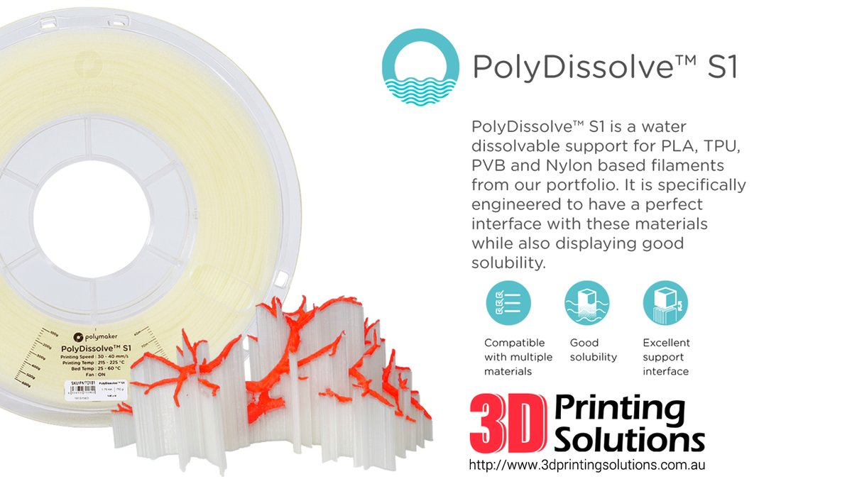 PolyDissolve™ S1 to support your design freedom in 3d printing!