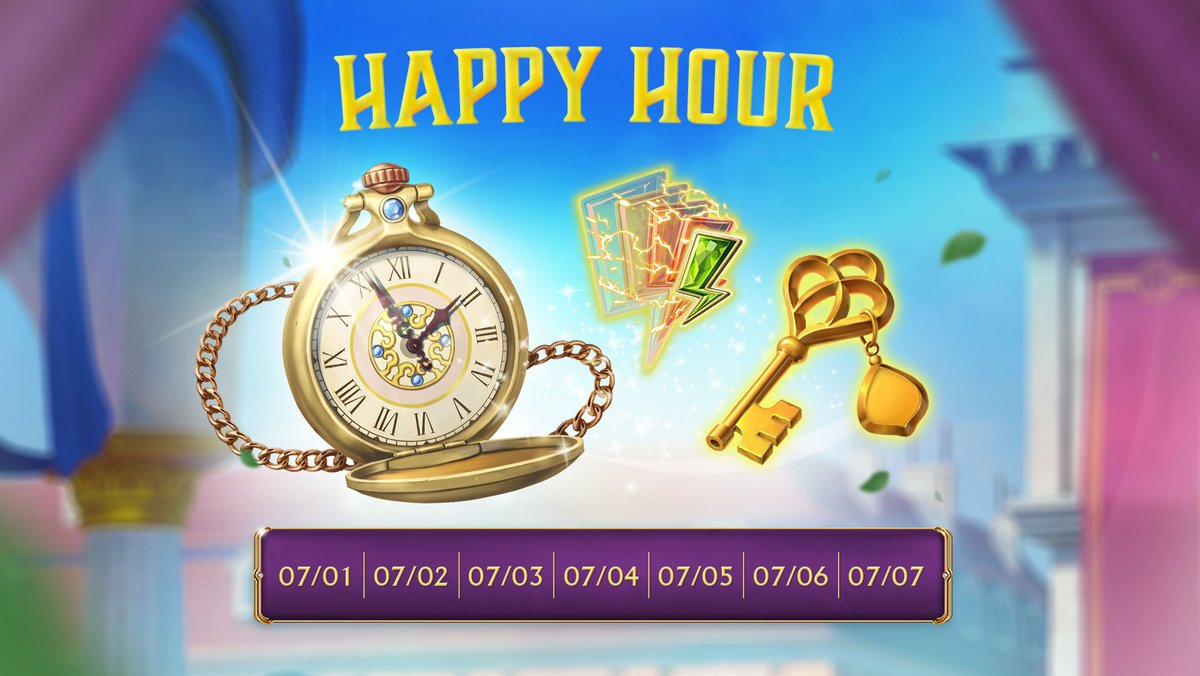 Happy hour every day!  12 pm-1 pm (your time zone): access pass requirements ⬇️ by 50% for exploring locations. Doesn't affect event location access passes.  8 pm-9 pm (your time zone): free ⚡️!  The remaining time is on the right side of the screen under the other in-game icons. https://t.co/BNJjCDWEFE