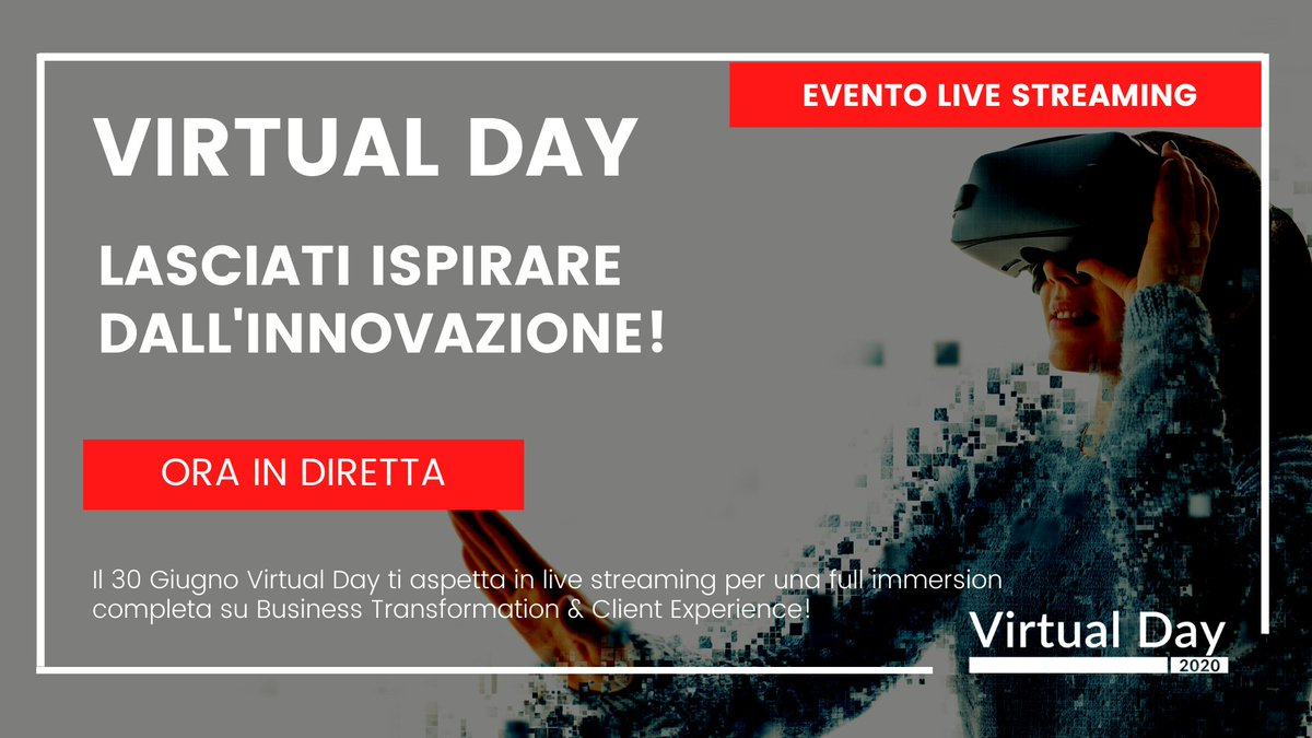 SIAMO IN DIRETTA!   PARTECIPA A #VIRTUALDAY E SCOPRI COME STA CAMBIANDO IL BUSINESS E L'ESPERIENZA DEL CLIENTE! Fai #networking con i partecipanti, segui i live streaming, contatta gli sponsor.  👉 ISCRIVITI ORA https://t.co/vJZuwWkGjl  Virtual Day è l'evento B2B di #IKNItaly https://t.co/MCAxOMfPLA