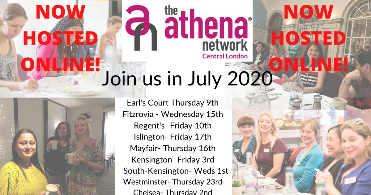You can check out all of our July meeting dates here!  Contact me for more information and to book your place.  #SaveTheDate #Connections #Dates #CentralLondon #networking #womeninbusiness #businesswomen #Islington #kensington #regents #mayfair # athenacentrallondon #magentatribe https://t.co/VLJyNaCFXk