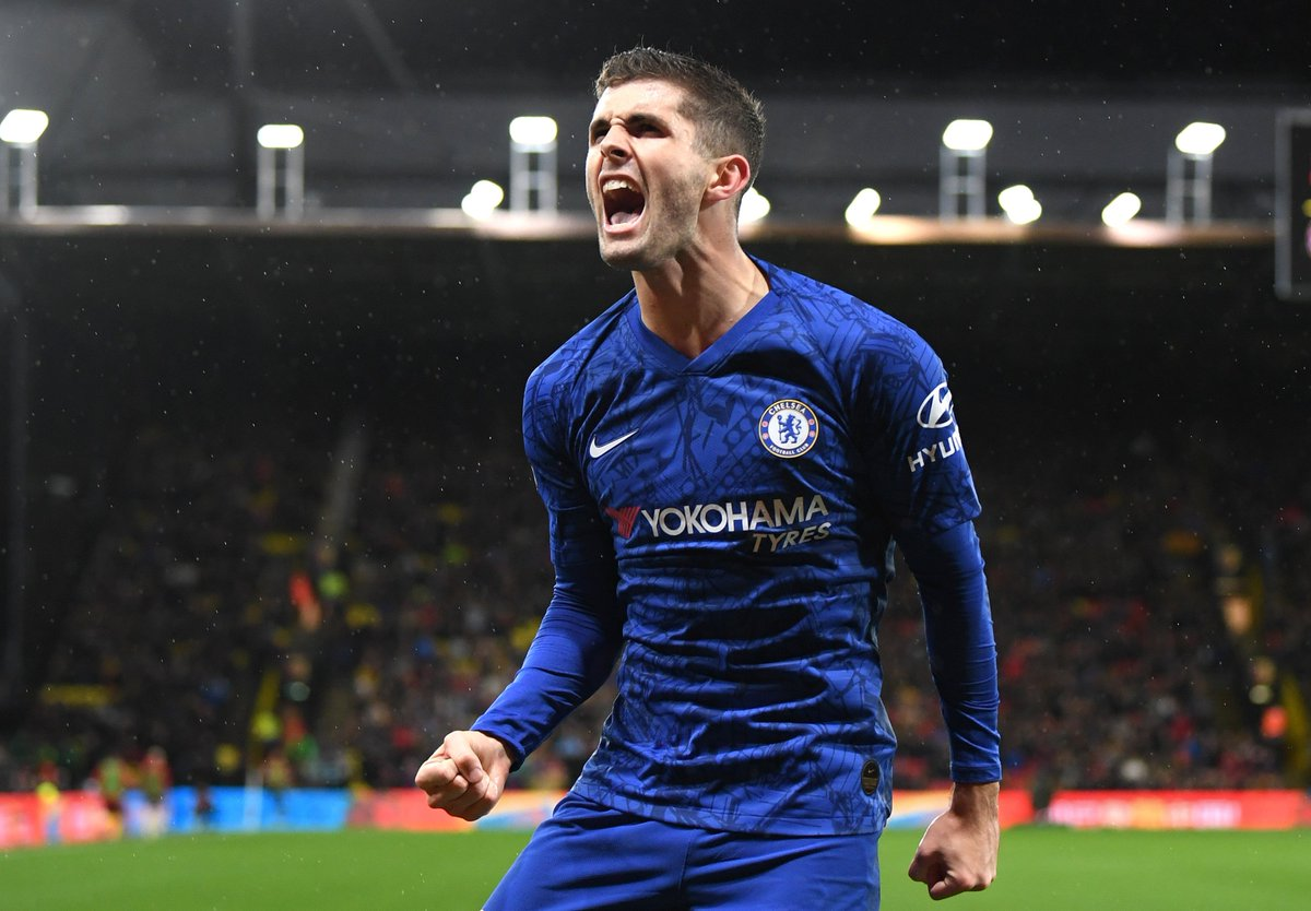Blessing your timeline with @cpulisic_10 goal celebrations 📸⚽ #CFC https://t.co/V1c7j6JqY7