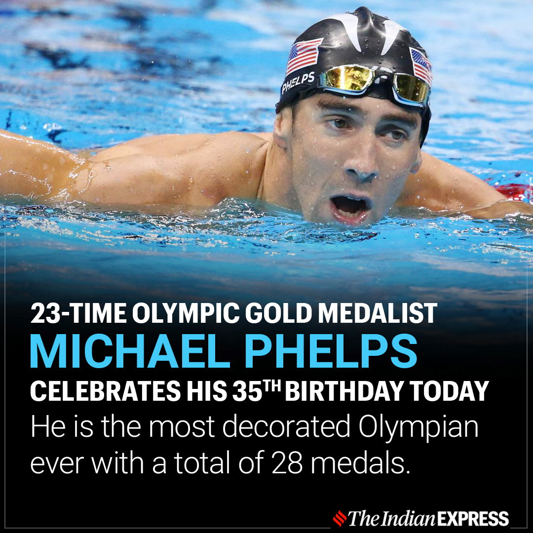 Wishing Michael Phelps, the fastest man on water , a happy birthday