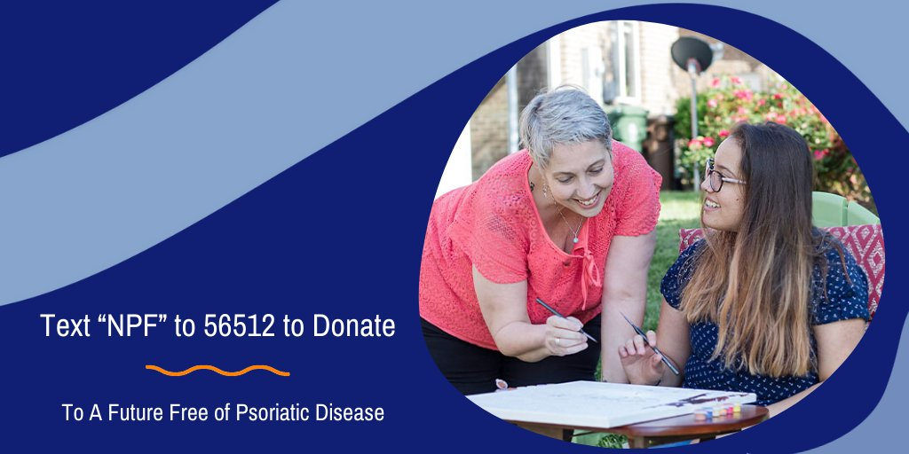 """Your next text could help us find a cure. Text """"NPF"""" to 56512 to donate and support a future free of psoriatic disease. #psoriasis #psoriaticarthritis"""
