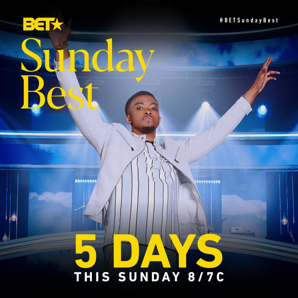 We're 5 DAYS away from the Season 10 premiere of SUNDAY BEST!  Reply with a 🎸 if you're ready for #BETSundayBest to return! https://t.co/xhI8u97IDe