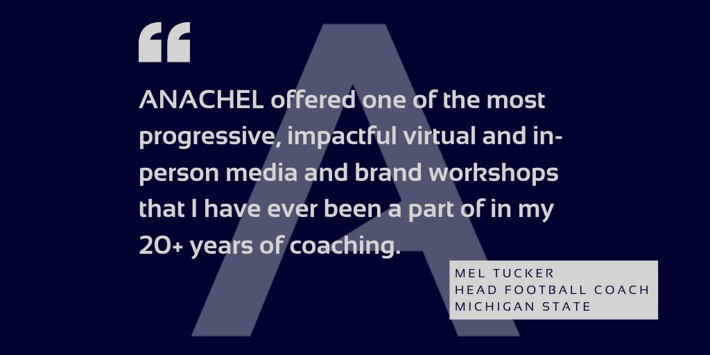 """Thank you @Coach_mtucker for your encouraging words.   It takes a """"relentless"""" culture of team work to make our partnerships w/clients work. It's our pleasure to be a part of  your team.   #brandworkshops  #mediatrainings  To learn more email us at info@anachel.com https://t.co/uwWDTvssaQ"""